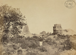 View of temples at the summit of the fort plateau, Gwalior